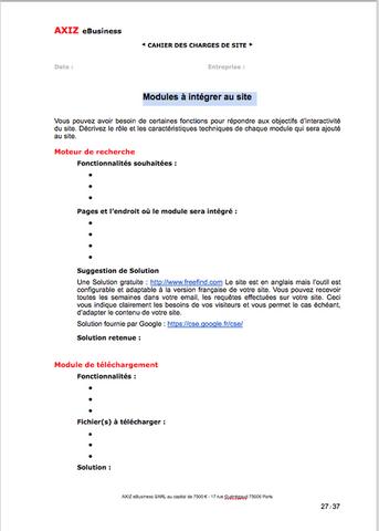 Modele De Cahier Des Charges D Un Site Internet Visible